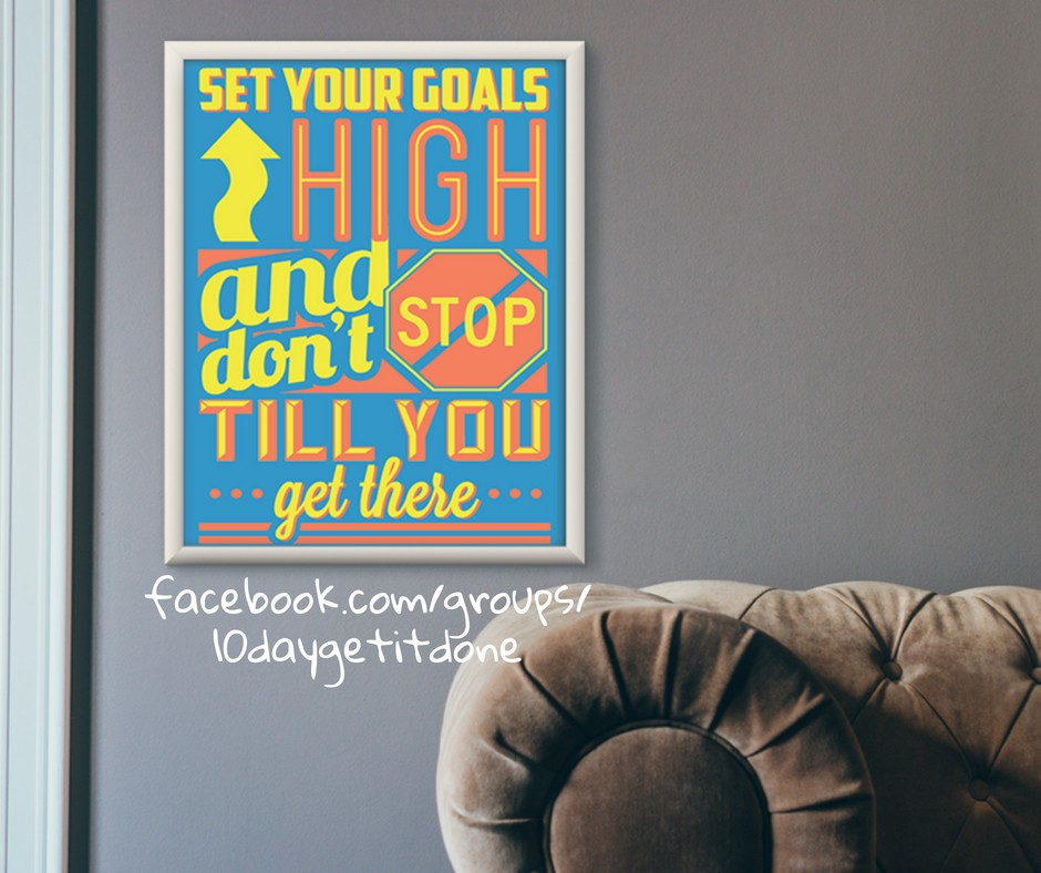 set powerful goals